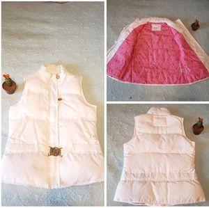 Lilly Pulitzer white vest size S